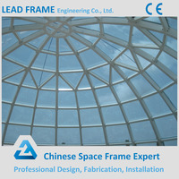 Long span tempered glass design dome roof for conference hall