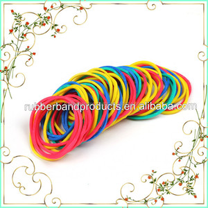 32MM White Color Elastic Rubber Band , 100% Rubber Solid Color Rubber Band for Sale