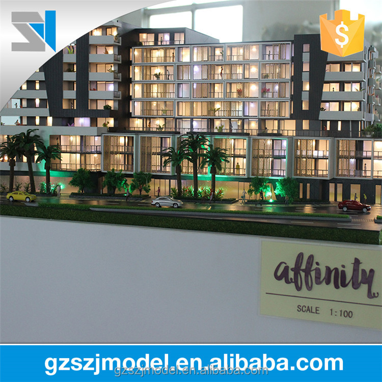 ABS plastic ho scale model 1:100, Good house 3d model making
