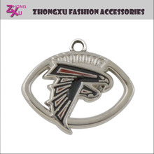 new custom popular metal NFL American football team Atlanta Falcons pendant charms