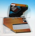 Clear plastic folding box, off-set printing plastic box, PET folding box