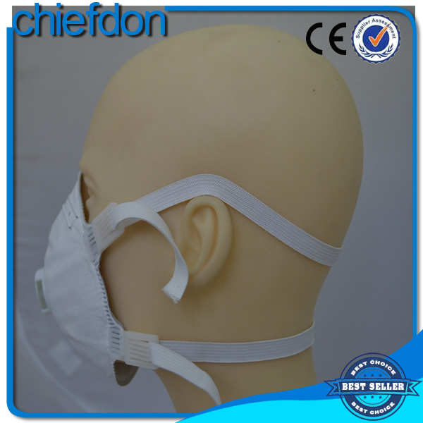 cup shape valved white niosh n95 face mask with CE certification