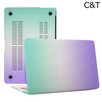 C&T Rainbow Matte Surface Crystal Rubberized Hard Shell Case cover protector for Apple Macbook Air 13.3""