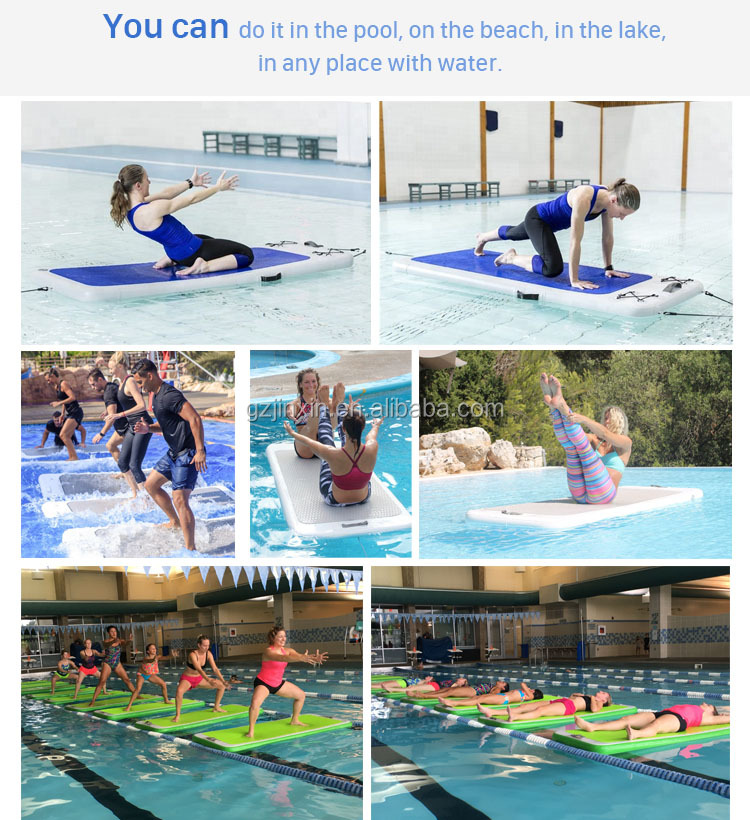 Anti Slip Eva Inflatable Floating Gymnastics Floor Mats Water Sports Play Yoga Fitness Mat Board For Swimming Pool Lake Beach