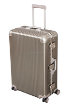 Good quality of aluminum metal suitcase trolly luggage suitcase