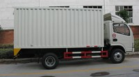 4x2 new design dongfeng 3t dry box trucks