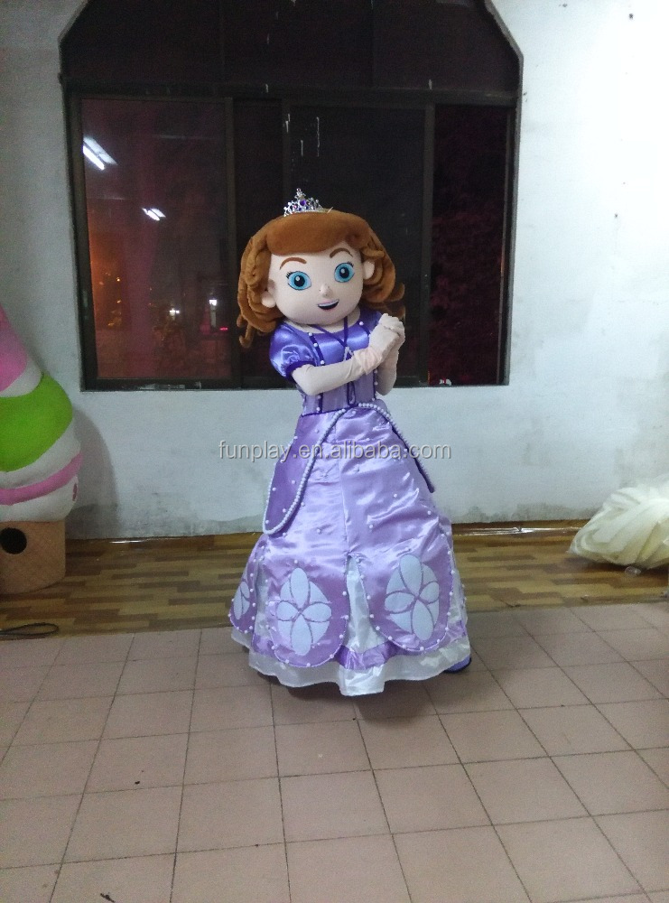 HI CE movie character sofia the first adult mascot costume, mascot costume for sale