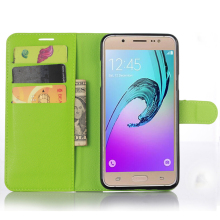 Litchi Wallet Pu Leather Cell Phone Leather Case For Sumsung Galaxy J710 2016