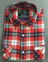 100% cotton men collar flannel shirts