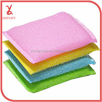 QJB27 [Explosion models] Single Needle white silk and dishes to wash nonstick oil wash sponge wipe scouring pad.