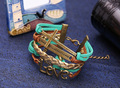 Wholesale handmade leather and wax cord braided LOVE bracelet