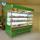 2018 most popular commercial produce display refrigerated cabinet new design oem/odm supermarket air curtain display cases