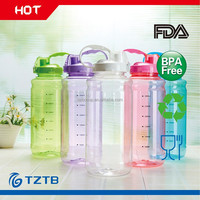 2L 70oz shake sports water bottle with straw inside tritan cup