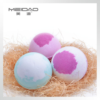 Meidao Popular Colorful Skin Moisturize Best Bath Salt Bomb Gift Set Natural Bath Bomb