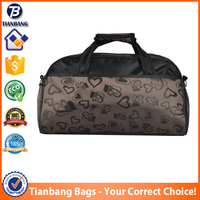 China Factory Cheap Simple Jacquard Fabric Portable Travel Bag