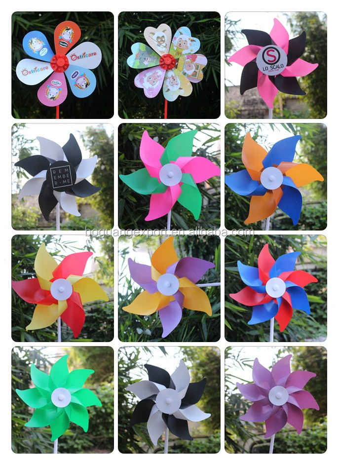 Logo Printed Mini kids toy windmills