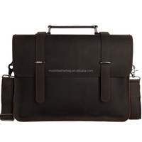 6148 Wholesale Crazy Horse Leather Vintage Portfolio for Men Genuine Leather Briefcase