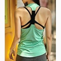 Professional Yoga deep cut tank top sleeveless stringer vest sports for women running gym fitness tops