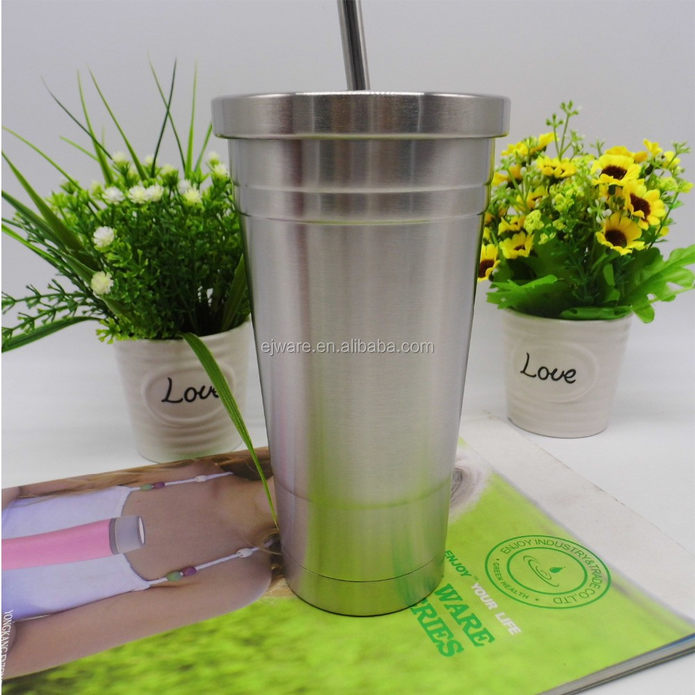 Unbreakable 16Oz Stainless Steel Tumbler Stainless Steel Tumbler Cups With Straws