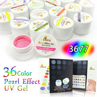 2014 Hot Sale COCO Pearl Color Soak off UV Gel System, Nail Art UV Gel Polish Kit,CANNI Factory Supply #3677-01X