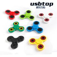 toy-00023 New Creative Fidget Spinner Hand Spinner Desk Anti Stress Finger Spin Spinning Top EDC Sensory Aluminum alloy Toy