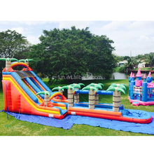 Cheap children big inflatable slide bouncer obstacle for sale