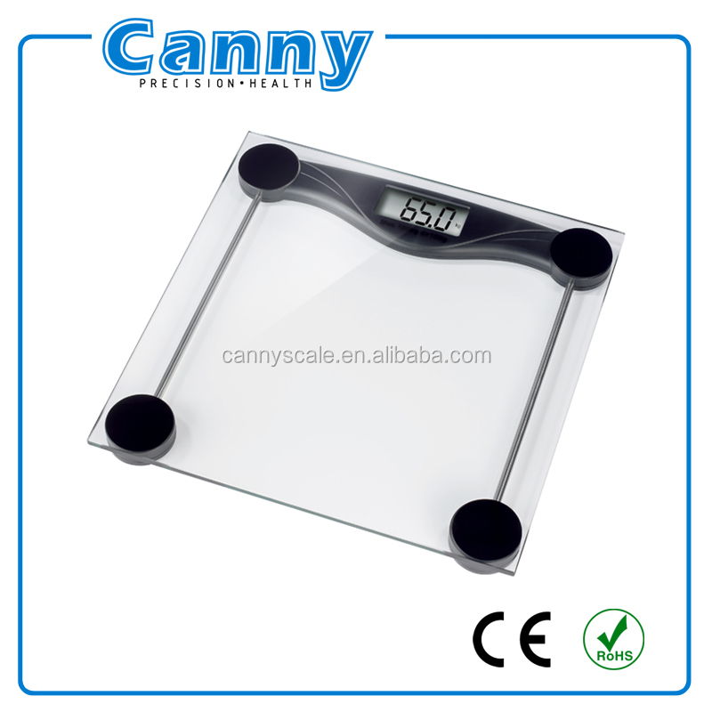 High quality low price body weighing scale with transparent glass