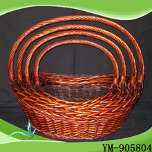 2016 Chinese popular fashional Factory direct sales Handmade Fruit Basket,Wooden Storage Basket