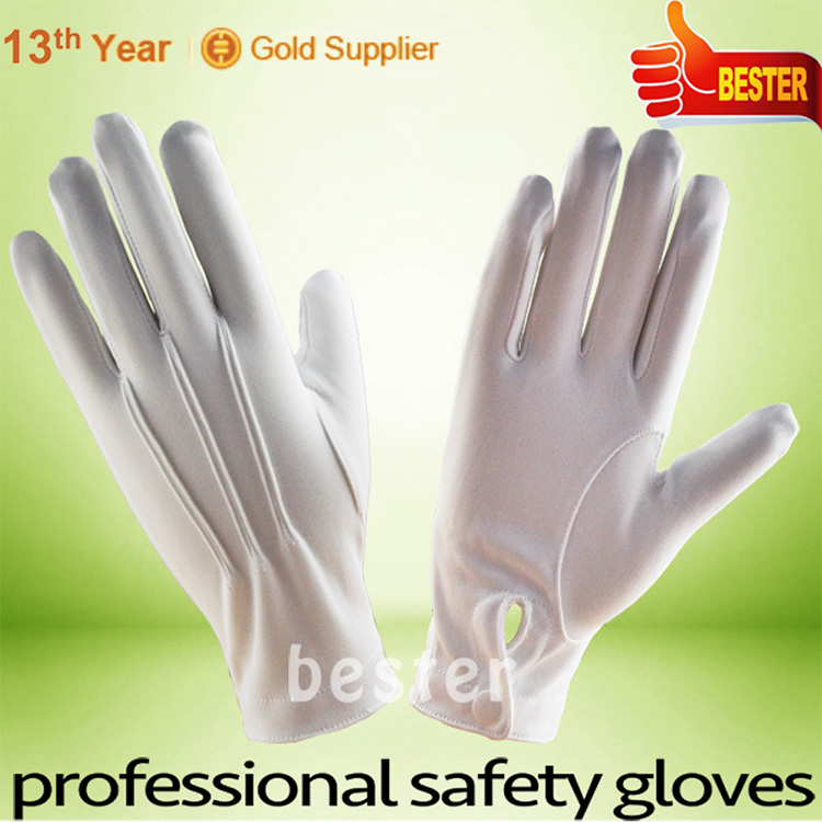 Top level special discount nylon masonic parade gloves