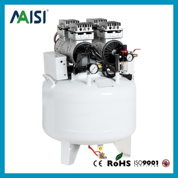 Hot Sell 350L/min 8 bar 2HP/1500W 65L Tank Oil-Free Air Compressor