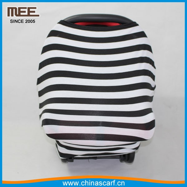 multi-use rayon blend Material stripe stretch canopy baby car seat cover
