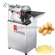 Potato Peeling And Cutting Machine / Commercial Potato Chips Cutter