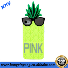 Cool Cartoon fruit design case Silicone pineapple case for Iphone 5 5s.
