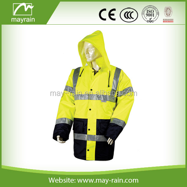 Outdoor High visibility reflective safety jacket with LED lights