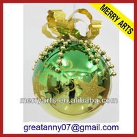 new product luxury personalized brass christmas ornaments made in china