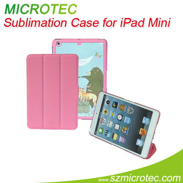 Sublimation blanks, blank book leather case for ipad mini
