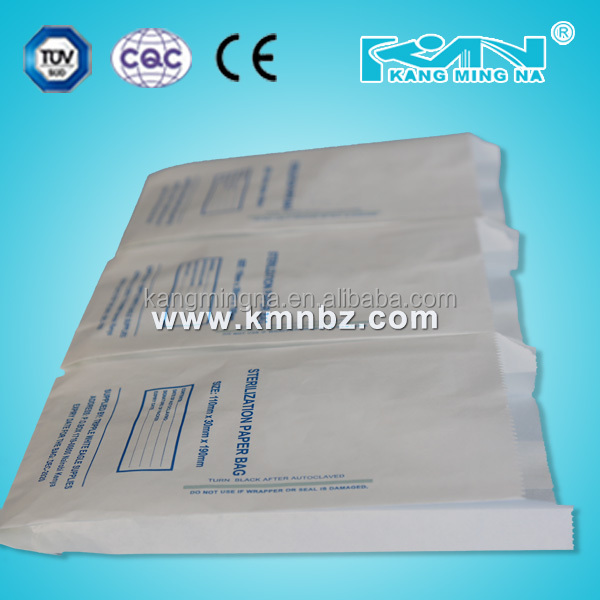Disposable Sterilization Standing up Paper Bag / Pouch
