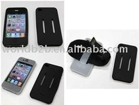 Silicone Case Skin Cover for iPhone 4G, Back with Armband