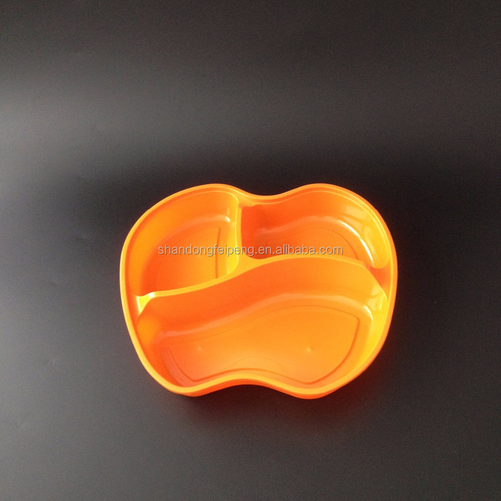 three compartment disposable Plastic pp lunch food storage box
