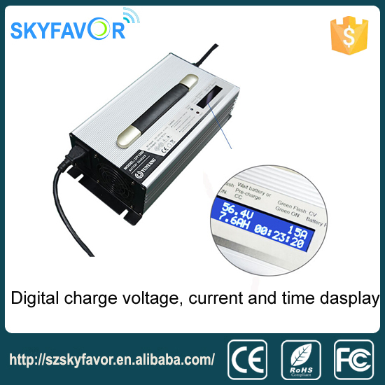 LCD Display 24V 30A Lead Acid Battery Charger for Electric Pallet Truck