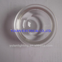 round pure clear led lens glass lampshade/lens/cover/diffuser for lighting fixture
