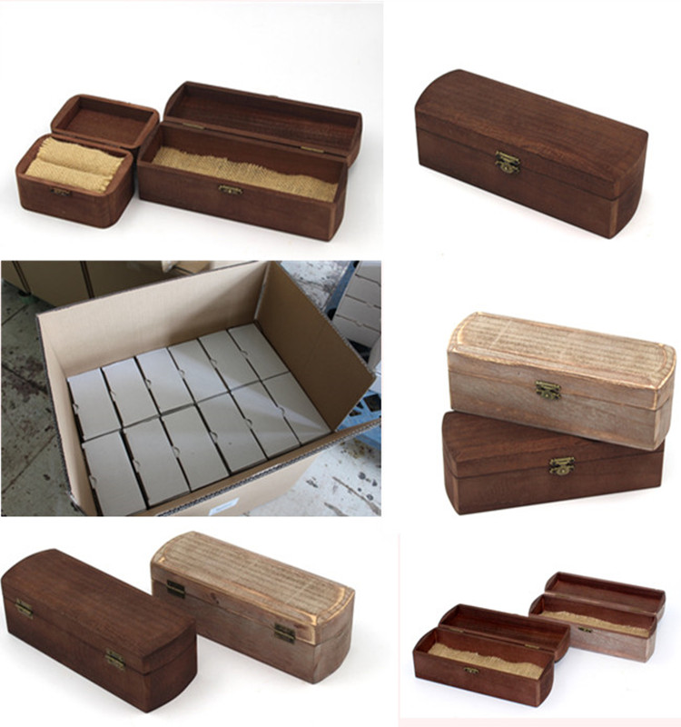 Solid Wood Jewellery Boxes Luxury Antique Ring Box
