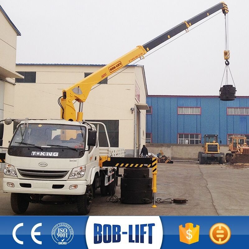 Small Used Electric Portable Pick Up Truck Mini Crane for Sale