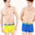 Middle-waisted sport sexy solid color underwear men boxer briefs