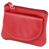 red square pu coin pouch with zipper, zipper coin bag