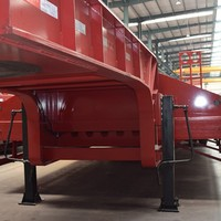 3 Axles Heavy Duty Lowbed Trailer