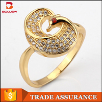 Professional Factory 14K Gold jewellery in bali AAA Cubic zirconia stone brass jewelry ring for girls