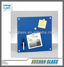 Magnetic Glass Notice Board 40x40cm, glass white board