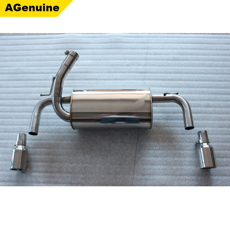 1 pipes each side <strong>muffler</strong> end pipes emission pipe silencer system exhaust kit for BMW 3 series F30