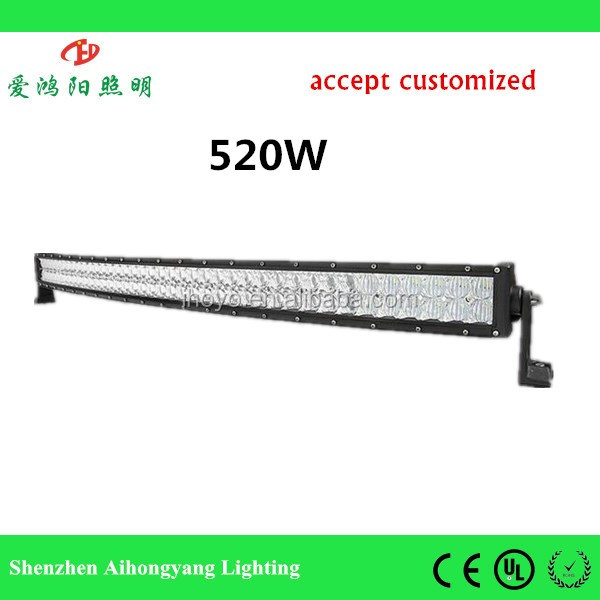 CK-BC24003C-5D 520W 51inch rigid led light bar for universal truck and SUV